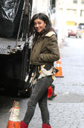 , фото 4. Jessica Szohr on set Women Of Gossip Girl Women Of Gossip Girl in New York, photo 4