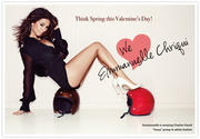 Emmanuelle Chriqui Leggy Valentine's Photo For Her ~ Charles David ~ Campaign