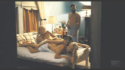 Jennifer Aniston  nude with two girls in the bed