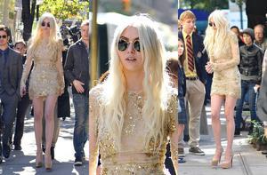 Taylor Momsen on Gossip Girl Finale Set Collage