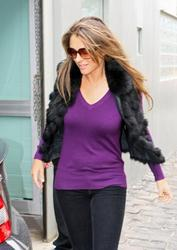 Elizabeth Hurley - Skinny Jeans Leaving Dentist Office In Melbourne (8/26)