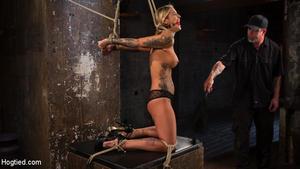 HOGTIED: October 13, 2016 – Kleio Valentien/ALT Tattooed Pain Slut Submits in Grueling Bondage